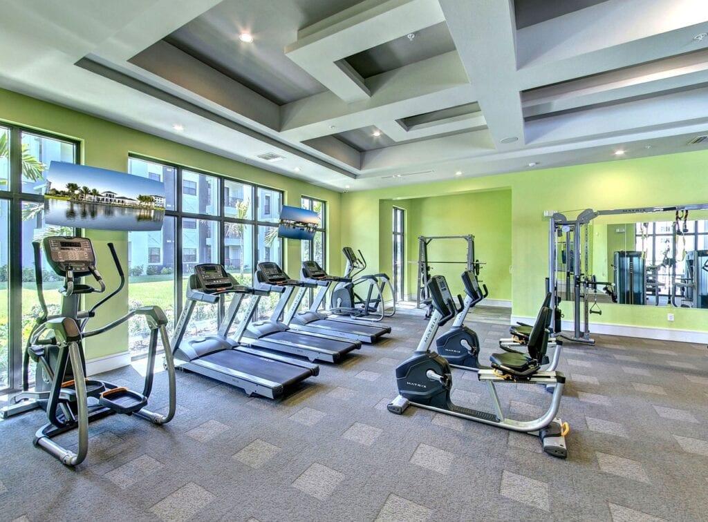 gym workout floor