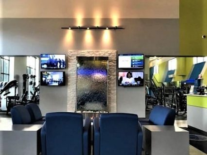 Reception area at gym