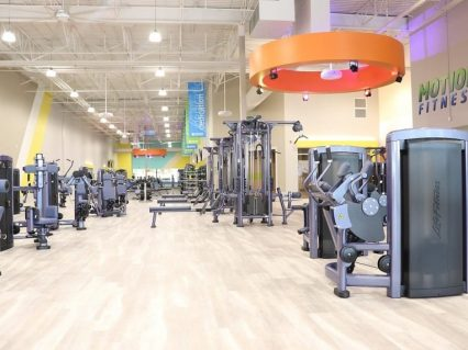 New workout floor area at gym