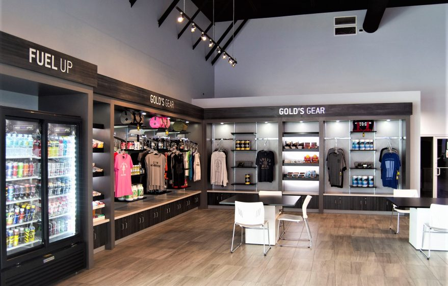 website Gold's Gym Retail Area